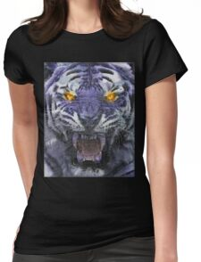 Psychedelic Tiger Poster Womens Fitted T-Shirt