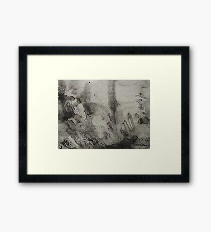 Ink Texture Framed Print