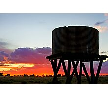 Sunset on the Downs - Inglewood Qld Australia Photographic Print