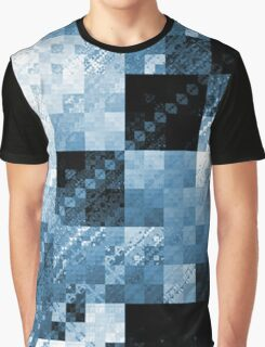 Blue Checkered Hot Mess Graphic T-Shirt