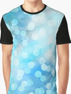 Turquoise Snowstorm - Abstract Watercolor Dots Graphic T-Shirt
