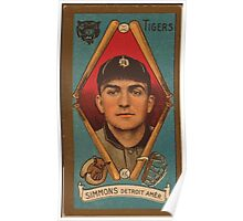 Benjamin K Edwards Collection George Simmons Detroit Tigers baseball card portrait Poster