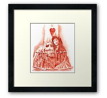 .I lava you. Framed Print