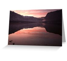 First sunset of the year Greeting Card