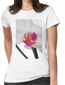 White Phaleanopsis Orchid on white background Womens Fitted T-Shirt