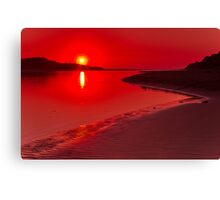 """Hot Summer's Dawn"" Canvas Print"