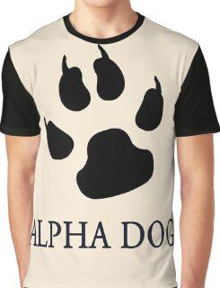 Alpha Dog paw print - black Graphic T-Shirt