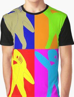 Left Shark Super Bowl POP ART (Warhol) Half Time Dancing Shark 2015 Graphic T-Shirt