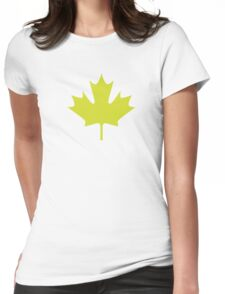 Maple leaf Womens Fitted T-Shirt