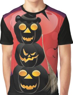 Halloween party background with pumpkins 5 Graphic T-Shirt