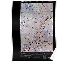 USGS Topo Map Washington State WA Marblemount 20110510 TM Inverted Poster