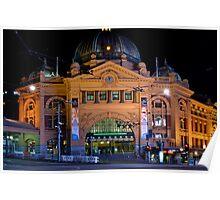 Flinders St Station 0094 Poster
