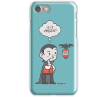Vegan Vampire iPhone Case/Skin