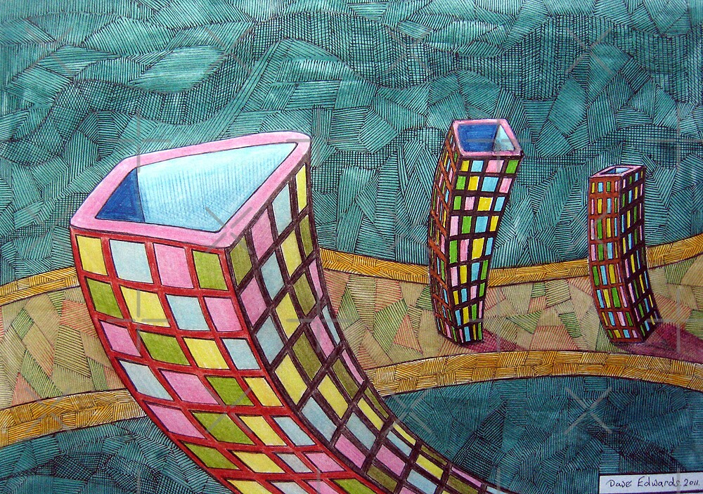 343 - LITTLE BOXES - DAVE EDWARDS - COLOURED PENCILS - 2011 by BLYTHART