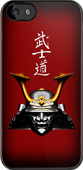 Black Kabuto (Samurai helmet) iPhone / iPod case by Steve Crompton