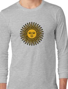 soleil sun argentina  argentine sol mayo Long Sleeve T-Shirt