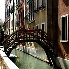 A Wooden bridge in Venice by Michele Filoscia
