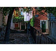 The last shafts of sunlight, Lisbon, Portugal Photographic Print