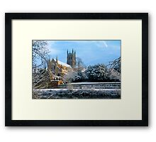 Snow covered Cathedral Framed Print