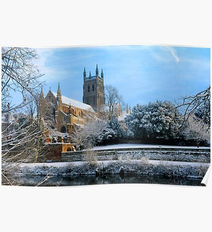 Snow covered Cathedral Poster