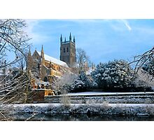 Snow covered Cathedral Photographic Print