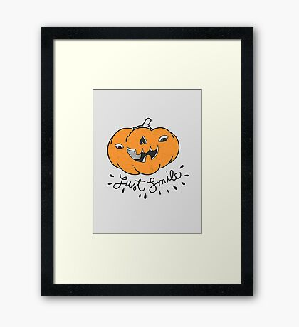 Just Smile! Framed Print