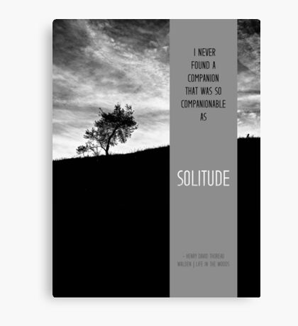 Henry David Thoreau - Solitude Canvas Print