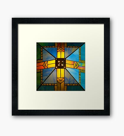 Top of Lamp Shade Framed Print