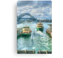 Sydney Harbour from Circular Quay ... HDR Canvas Print