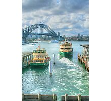 Sydney Harbour from Circular Quay ... HDR Photographic Print