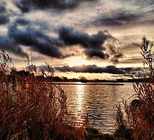 Yeadon Tarn Sunset by Colin Metcalf