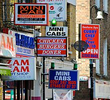 Signs.Brick Lane by richard  webb