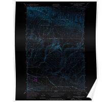 USGS Topo Map Washington State WA Black Rock Spring SW 240081 1953 24000 Inverted Poster
