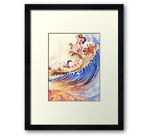 Ultramarine Wave Framed Print