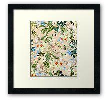 Retro Tropical Flowers Framed Print