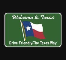 Welcome to Texas, Road Sign, USA  Kids Tee