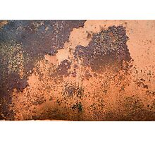 Brown rusty abstract background   Photographic Print