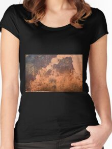 Brown rusty abstract background   Women's Fitted Scoop T-Shirt