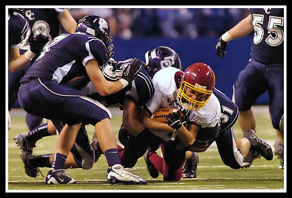 Class 1A Lafayette Central Catholic vs Indianapolis Scecina 4 by Oscar Salinas