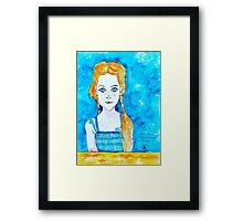 Blue Eyed Mia Framed Print