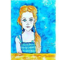 Blue Eyed Mia Photographic Print