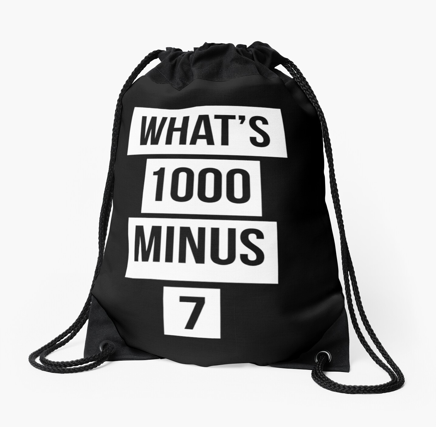 ysl messenger bag black - what\u0026#39;s 1000 minus 7?\u0026quot; Drawstring Bags by Vivian Yeong | Redbubble
