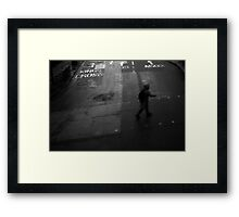 LONDON: VIEWS FROM THE TOP DECK PT 9: DANGEROUS CROSSING Framed Print