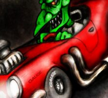 Death by Dragster Sticker