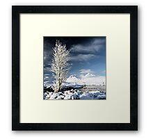 Glencoe winter scenery Framed Print