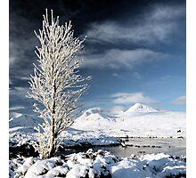 Glencoe winter scenery Photographic Print