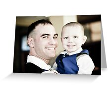 Dad and son Greeting Card