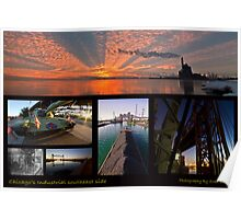Chicago's Industrial SouthEast Photo Collage Poster