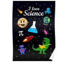 I Love Science Poster