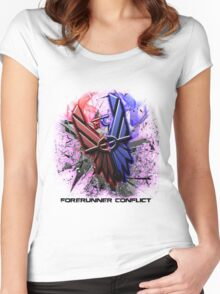 Forerunner Conflict: Revolutions Logo (w/Text) Women's Fitted Scoop T-Shirt